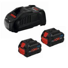 BOSCH Professional komplet: 2 x litij-ionska baterija 18V + punjač (1600A01C4K)
