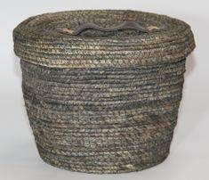 Kaemingk okrugla košara s poklopcem, cca 27x22cm, siva