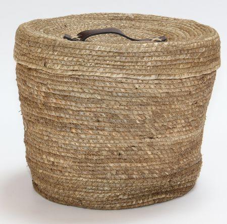 Kaemingk okrogla košara s pokrovom, cca 32x27cm, naravna