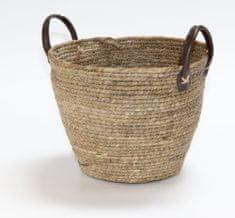 Kaemingk Okrúhly košík s držadlami, cca 32x23cm prírodná