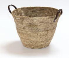 Kaemingk Okrugla košara s ručkama, 36x26 cm, prirodna