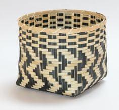 Kaemingk Košík Bamboo, 29x21cm, prírodná/čierna