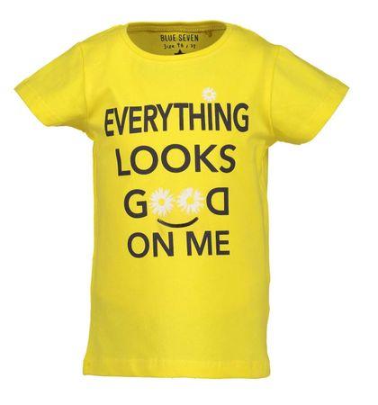 Blue Seven dívčí tričko 92 žltá