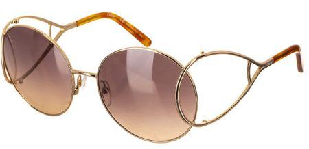 Chloé damskie złote okulary przeciwsłoneczne