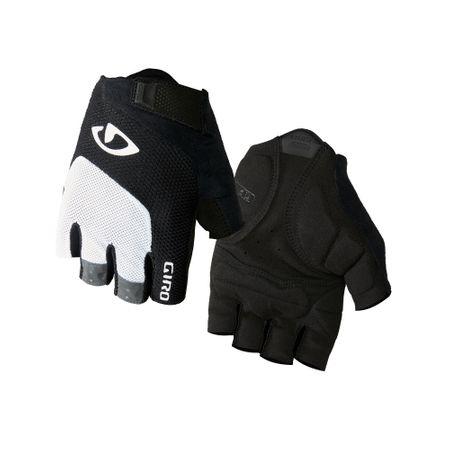 Giro rękawiczki Bravo White/Black M białe/czarne
