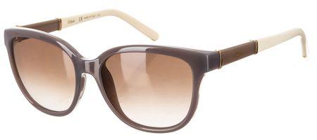 Chloé damskie brązowe okulary przeciwsłoneczne