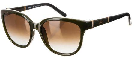 Chloé damskie ciemnozielone okulary przeciwsłoneczne