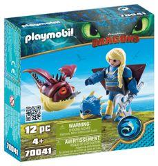 Playmobil Astrid z letečo obleko in Skokožer 70041