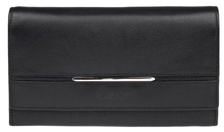 Lagen Női fekete bőr pénztárca 9530 fekete