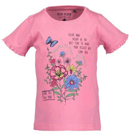 Blue Seven lány póló fodrokkal 92 rózsaszín