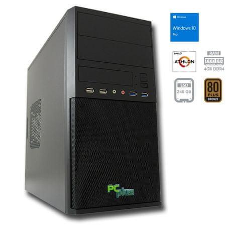PCplus namizni računalnik I-NET 200GE/4GB/SSD 240GB/Vega3/W10P (138068)
