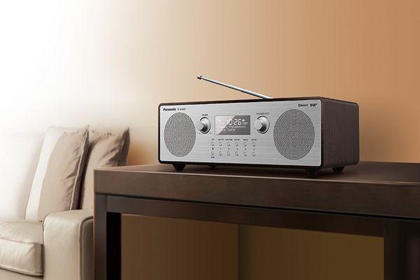 Panasonic RF-D100BTEGT rádióvevő a hegedűhöz hasonló fából basszusreflex csúcsminőségű hangminőség 2 hangszóró erős basszusok