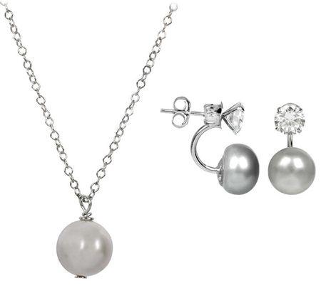 JwL Luxury Pearls JL0214 és JL0089 kedvezményes gyöngy ékszer készlet ezüst 925/1000