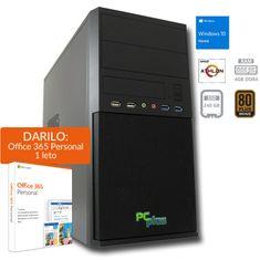 PCplus namizni računalnik I-NET 200GE/4GB/SSD 240GB/Vega3/W10H (138064)