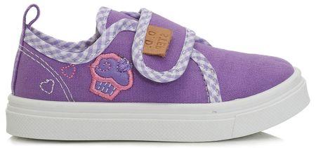 D-D-step dívčí plátěné tenisky s dortíkem 20 fialová