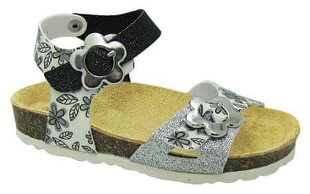 Canguro dívčí sandály 24 strieborná