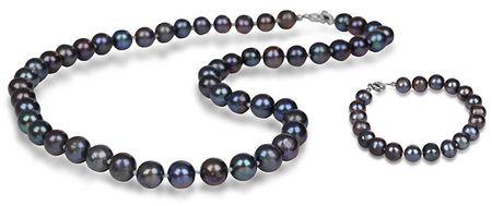 JwL Luxury Pearls JL0265 és JL0360 kedvezményes gyöngy ékszerkészlet ezüst 925/1000