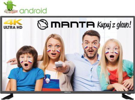 Manta 4K-UHD LED televizor 43LUA29L, Android, Smart, HDR, WiFi