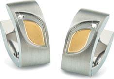 Boccia Titanium Bicolor titán fülbevaló gyémánttal 05009-03