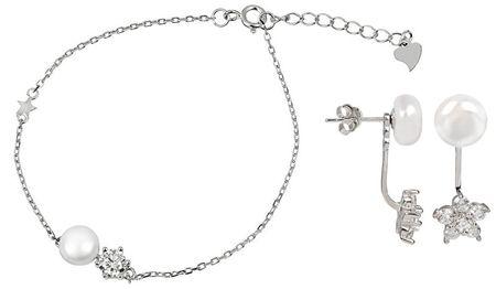 JwL Luxury Pearls Zvýhodnená perlová súprava šperkov JL0281 a JL0315 striebro 925/1000