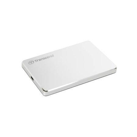 """Transcend zunanji trdi disk HDD EXT 2TB 25C3S, 2,5"""", USB 3.1/3.0, srebrn, kovinski"""