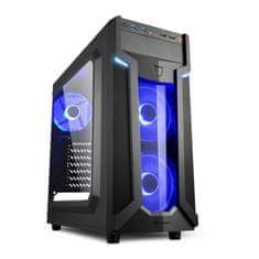Sharkoon ohišje MIDI T ATX W/O PSU VG6-W, modro