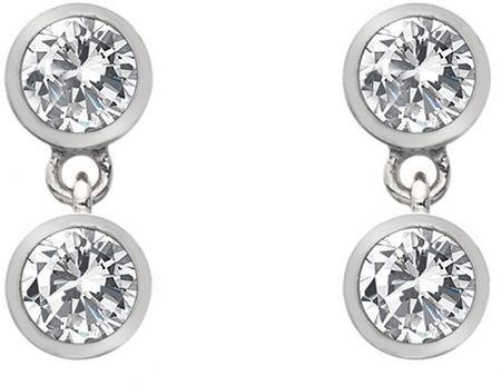 Hot Diamonds Ezüst fülbevaló topázzal és valódi gyémánttal Willow DE586 ezüst 925/1000