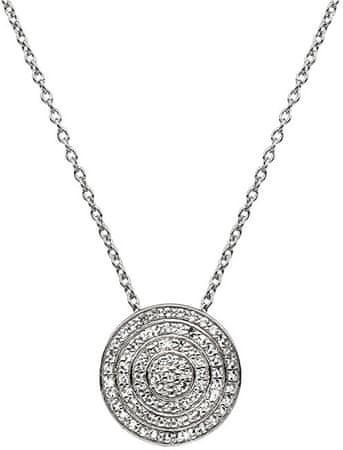 Hot Diamonds Strieborný náhrdelník s pravým diamantom Flora DP719 (retiazka, prívesok) striebro 925/1000