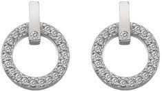 Hot Diamonds Błyszczące Kolczyki z odpowiednim diamentem Flora DE580 srebro 925/1000