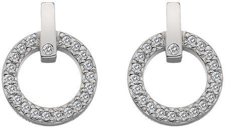 Hot Diamonds Gyönyörű fülbevaló valódi gyémánttal Flora DE580 ezüst 925/1000
