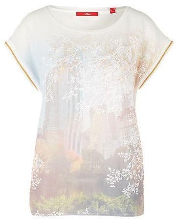 s.Oliver koszulka damska 36 kremowa