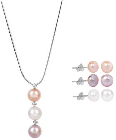 JwL Luxury Pearls JL0425 és JL0426 kedvezményes ékszerkészlet ezüst 925/1000