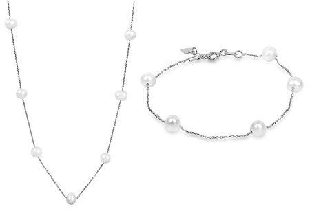 JwL Luxury Pearls Kedvezményes ékszer szett JL0355 és JL0353 ezüst 925/1000