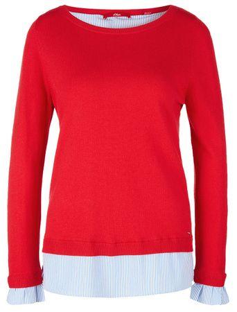 s.Oliver sweter damski 34 czerwony