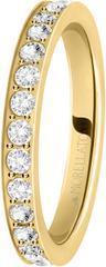Morellato Pozlačen prstan s kristali Love Rings SNA39