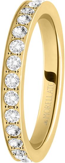 Morellato Pozlátený prsteň s kryštálmi Love Rings SNA39 (Obvod 52 mm)