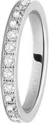 Morellato Jeklen prstan s kristali Love Rings SNA41