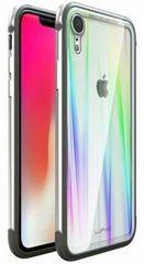 Luphie CASE ovitek Aurora Condom Aluminium Frame + TPU Case Silver/Crystal za iPhone XR 2442694