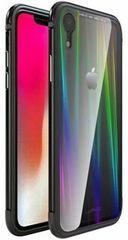 Luphie CASE ovitek Aurora Condom Aluminium Frame + TPU Case Black/Crystal za iPhone XR 2442692