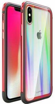 Luphie CASE ovitek Aurora Condom Aluminium Frame + TPU Case Red/Crystal za iPhone XS Max 2442691