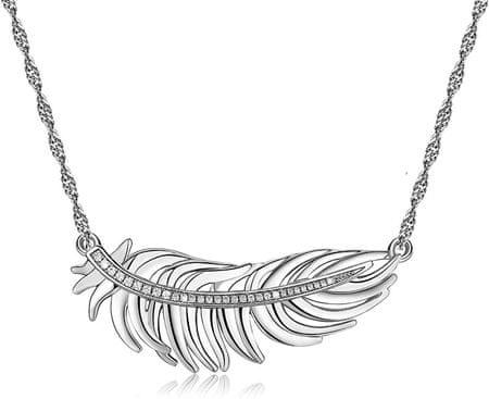 Brosway Romantična ogrlica s perjem Plume BUM01