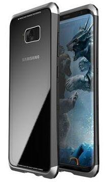 Luphie CASE Double Dragon Aluminium Hard Case Czarny/Srebrny pro Samsung G950 Galaxy S8 2441740