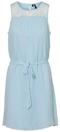 Vero Moda Damska Short sukienka Alia S / L Wvn Cool Dress Blue (rozmiar M)