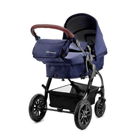 KinderKraft kombinirani otroški voziček 2v1 Moov Navy, moder