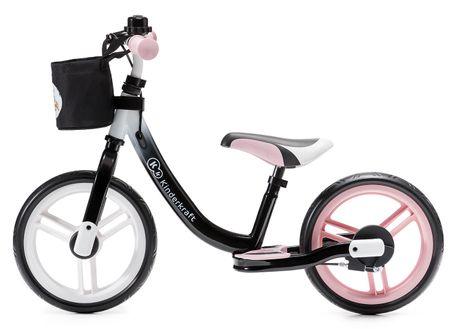 KinderKraft Space pedál nélküli gyerekkerékpár, rózsaszín