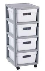 CURVER Rozkladacie šuplíky Infinity 4x 11 L biele