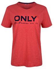 ONLY Koszulka damska Logo Slub Dnm Tee Mars Red