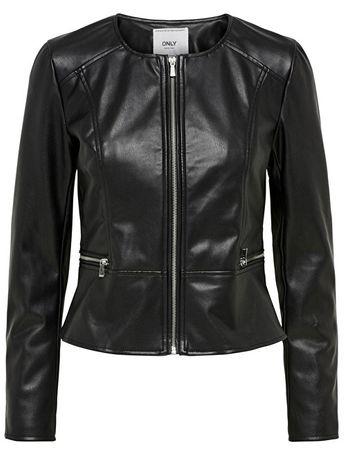ead7eb84c0 ONLY Női bőrdzseki Mona Faux Leather Jack és Otw Black (méret 38 ...