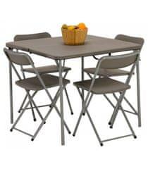 Vango Orchard 86 zestaw stół i krzesła, szary