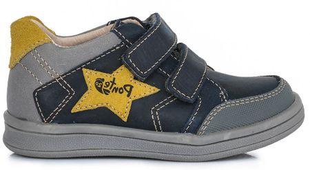 36ded5940 Ponte 20 chlapčenské kožené topánky 28 šedá/modrá | MALL.SK